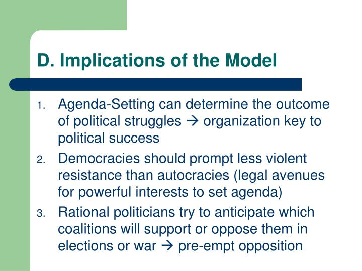 D. Implications of the Model