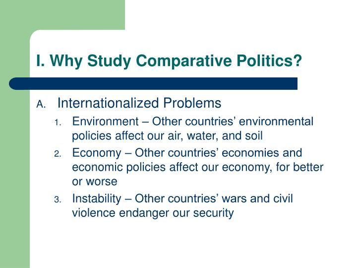 I. Why Study Comparative Politics?
