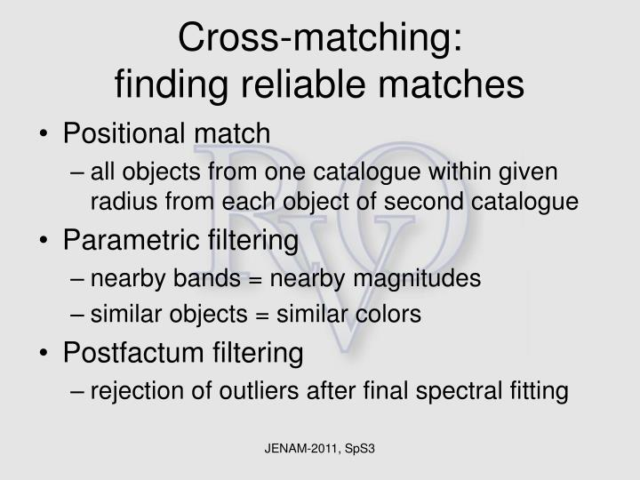 Cross-matching: