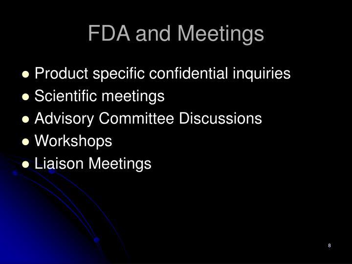 FDA and Meetings