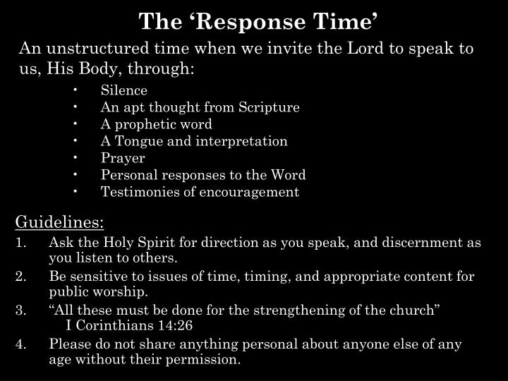 the response time