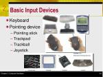 basic input devices
