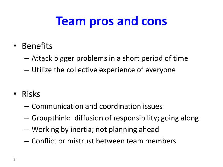 pros and cons of groupthink
