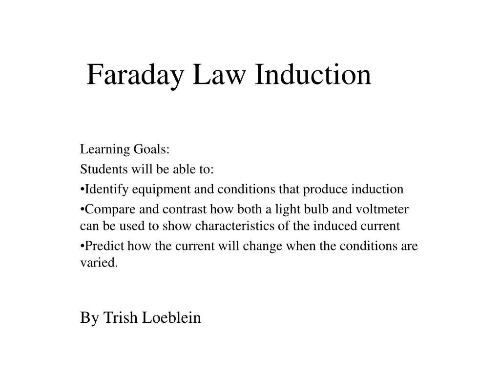 Ppt faraday law induction powerpoint presentation id:2988822.