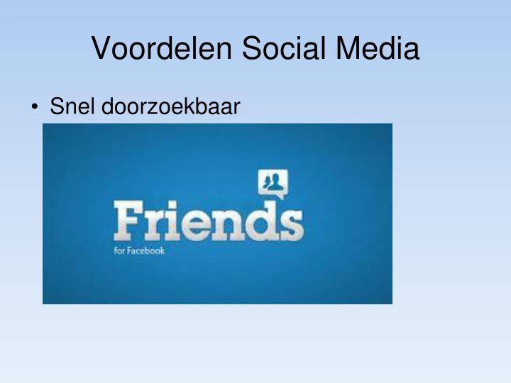 Voordelen Social Media