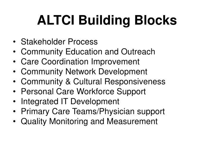 ALTCI Building Blocks