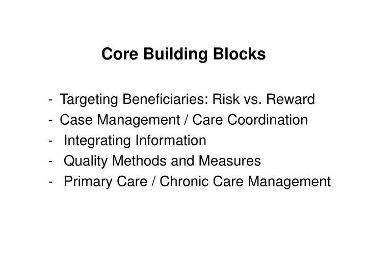 Core Building Blocks