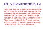 abu quhafah enters islam