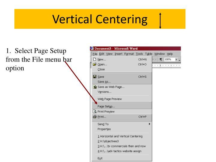 Vertical Centering