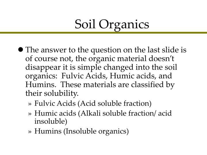 Soil Organics