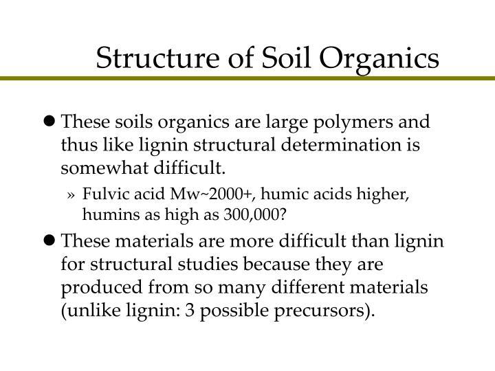 Structure of Soil Organics