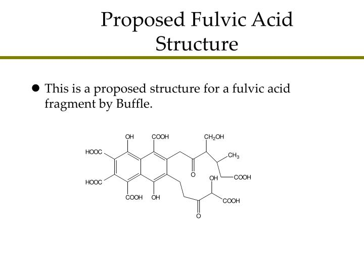 Proposed Fulvic Acid Structure