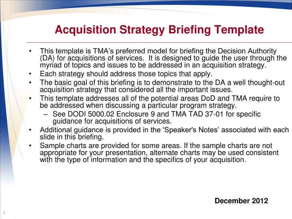 beaufiful acquisition strategy template pictures   unique