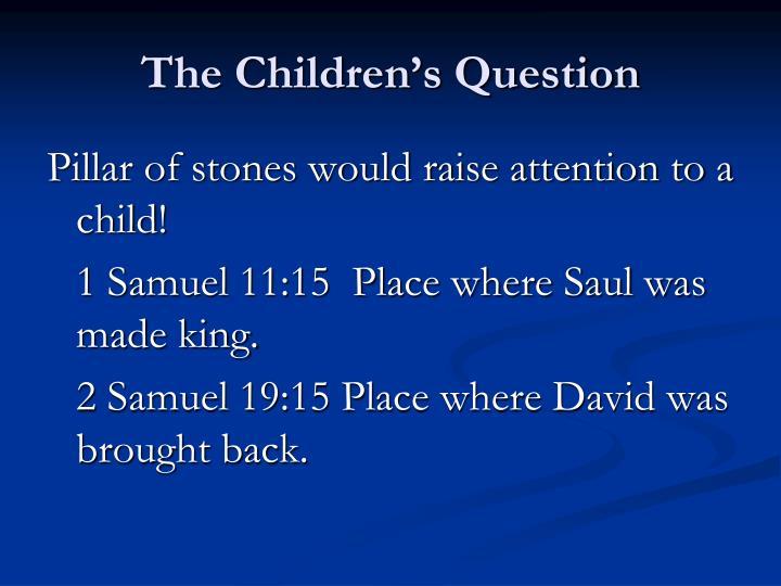 The Children's Question