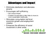 advantages and impact