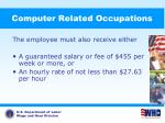 computer related occupations1