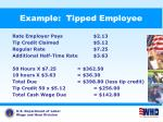 example tipped employee