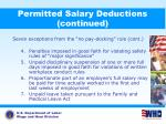 permitted salary deductions continued