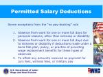 permitted salary deductions