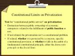constitutional limits on privatization1