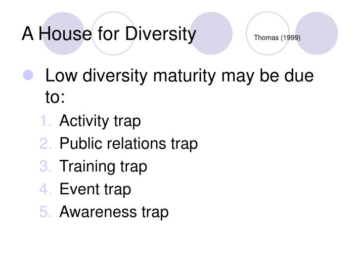 A house for diversity thomas 1999