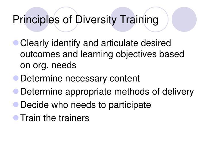 Principles of Diversity Training