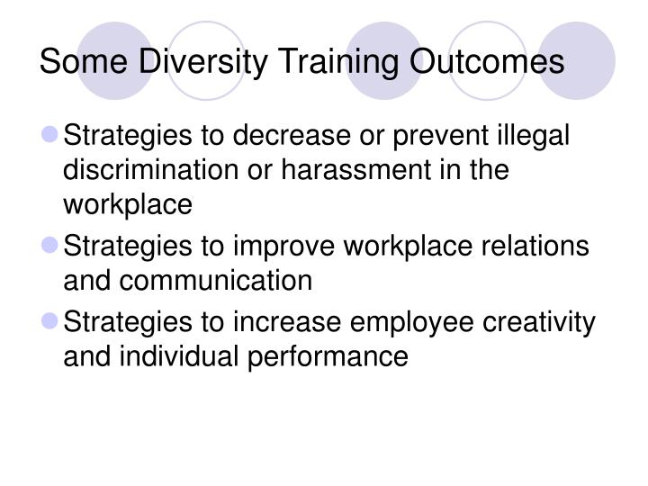 Some Diversity Training Outcomes