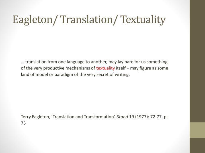 Eagleton/ Translation/
