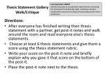 thesis statement gallery walk critique