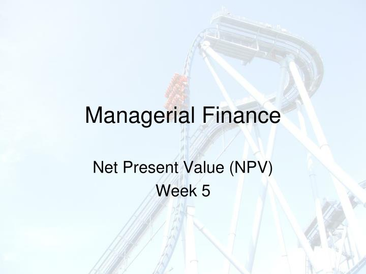 finance npv In finance, the net present value (npv) or net present worth (npw) is a measurement of profit calculated by subtracting the present values (pv) of cash outflows (including initial cost) from the present values of cash inflows over a period of time.