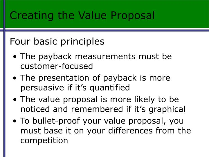 Creating the Value Proposal
