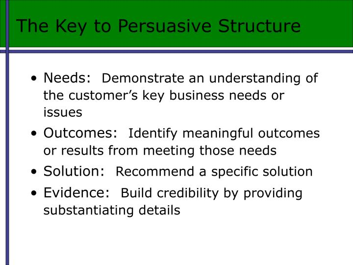 The Key to Persuasive Structure
