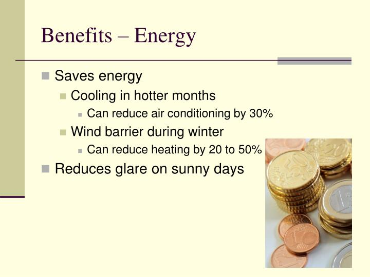 Benefits – Energy