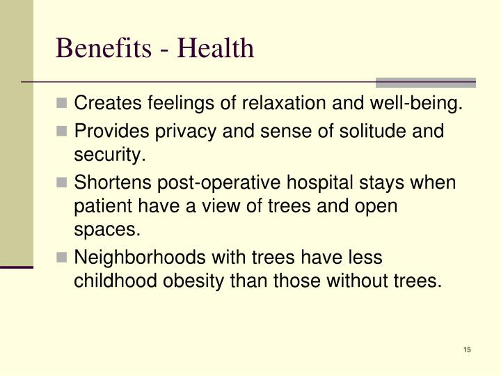 Benefits - Health