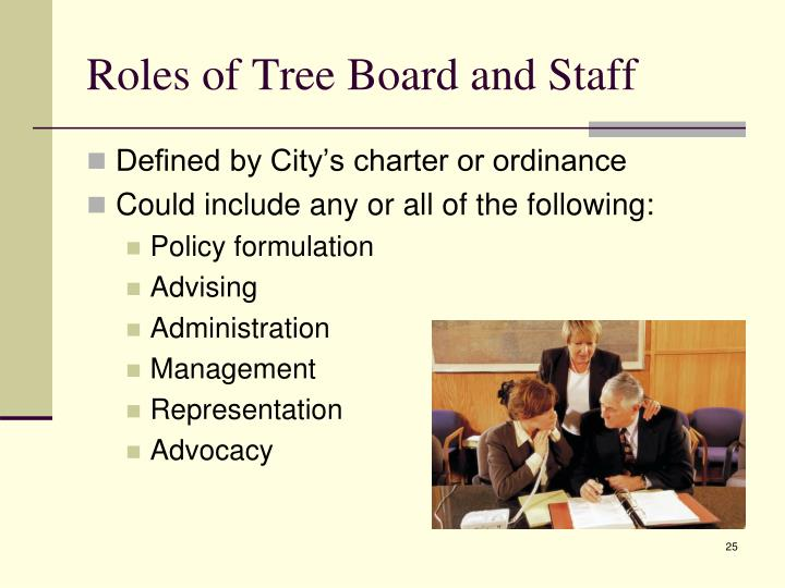 Roles of Tree Board and Staff