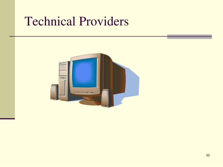 Technical Providers