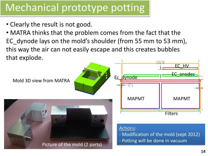 Mechanical prototype potting