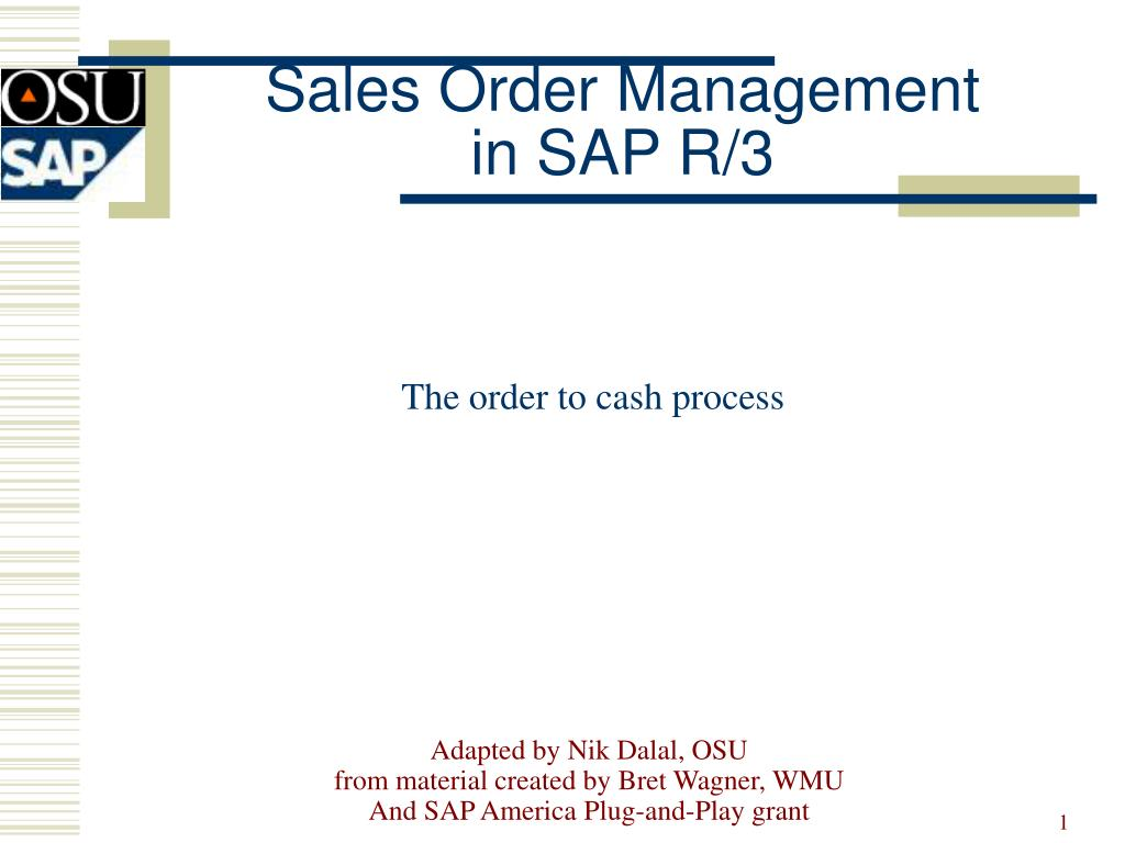 sales order management in sap r 3 n.
