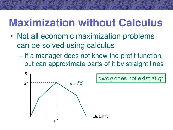 maximization without calculus n.
