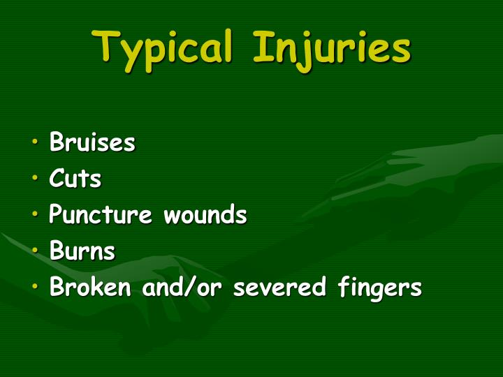 Typical Injuries