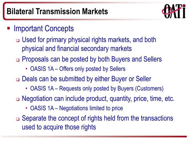 Bilateral Transmission Markets