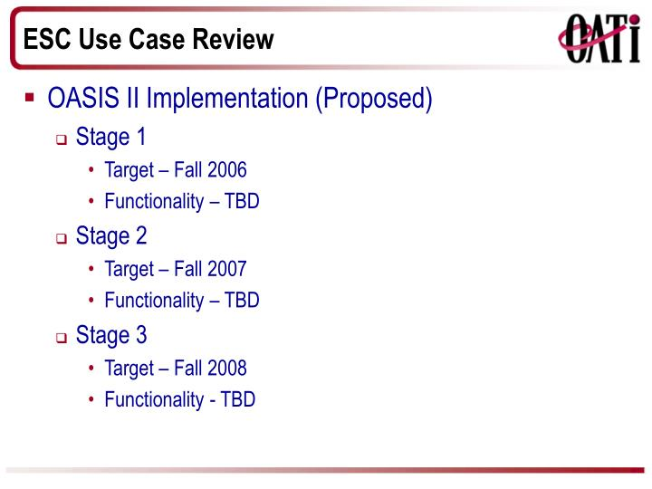 Esc use case review1