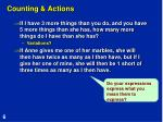 counting actions