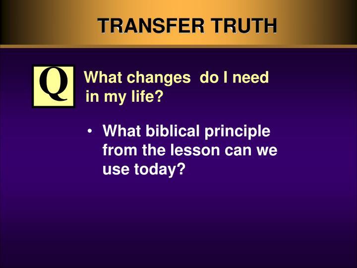 TRANSFER TRUTH