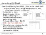 auswertung crc modell