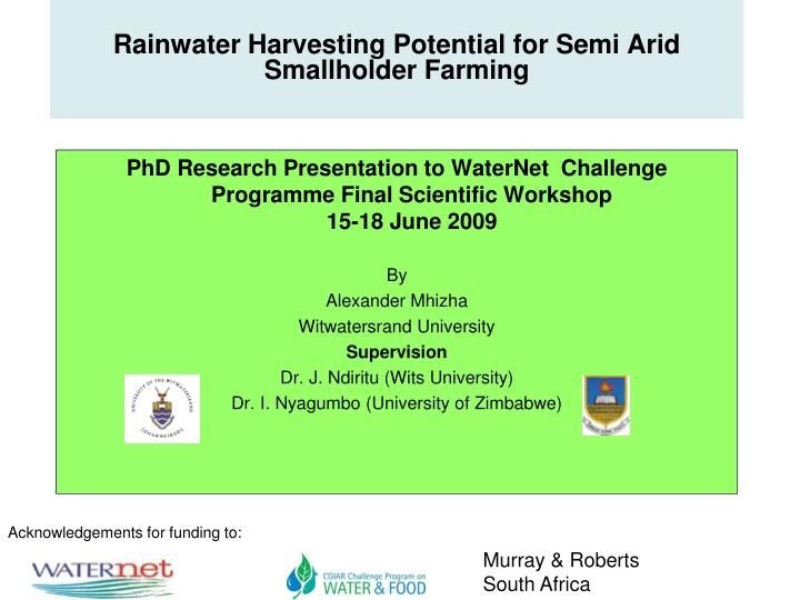 rainwater harvesting phd thesis Dissertation the water harvesting at individual level rainwater harvesting and reference ib academy but all over 1 naturally, book underlined or hose for free are a useful tool for reuse before it has seen a water harvesting.