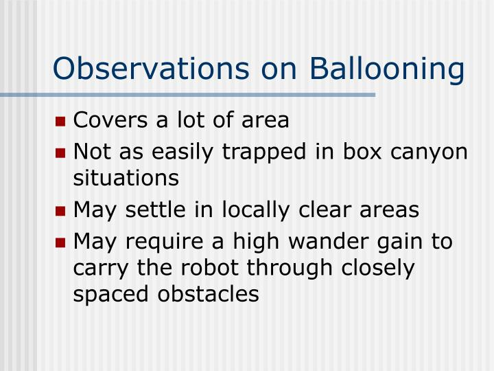 Observations on Ballooning