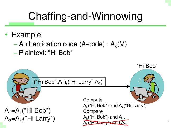Chaffing-and-Winnowing