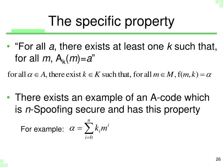 The specific property