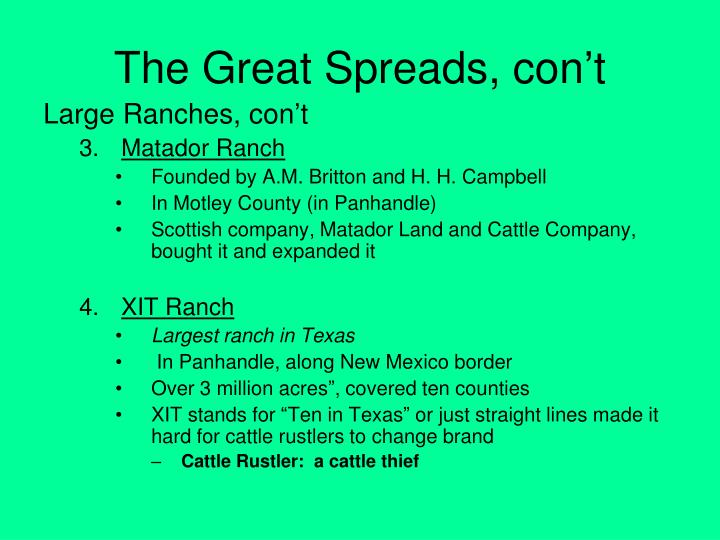Map Of Xit Ranch Texas.Ppt Chapter 17 Ranching In Texas 1850 1890 Powerpoint Presentation